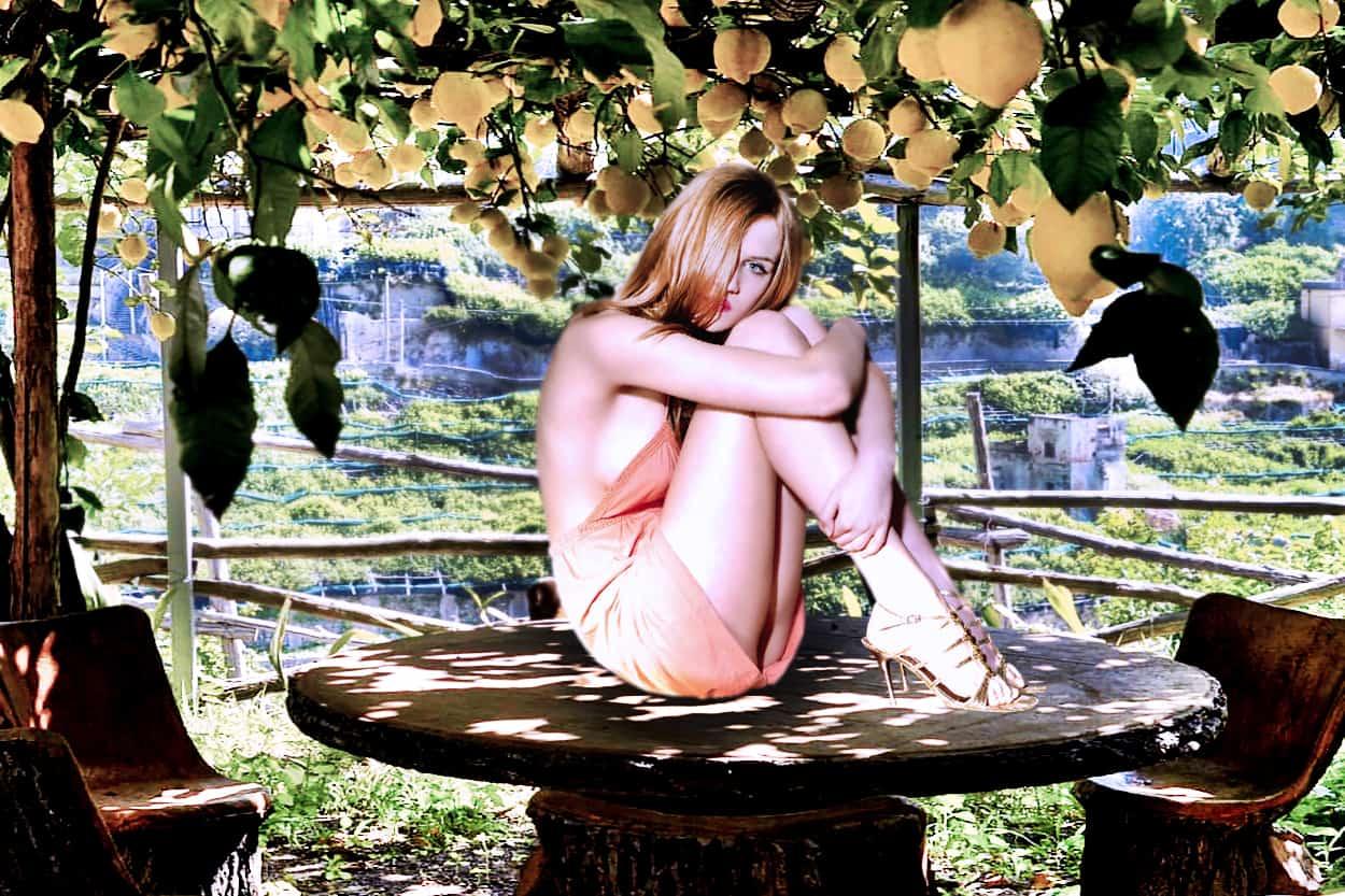 sesja zdjęciowa w ogrodzie