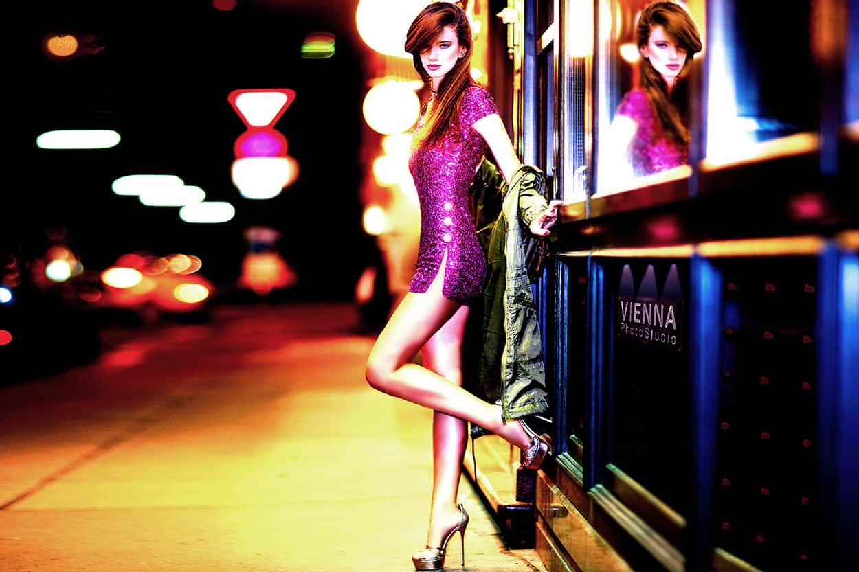 fotografia mody nocna