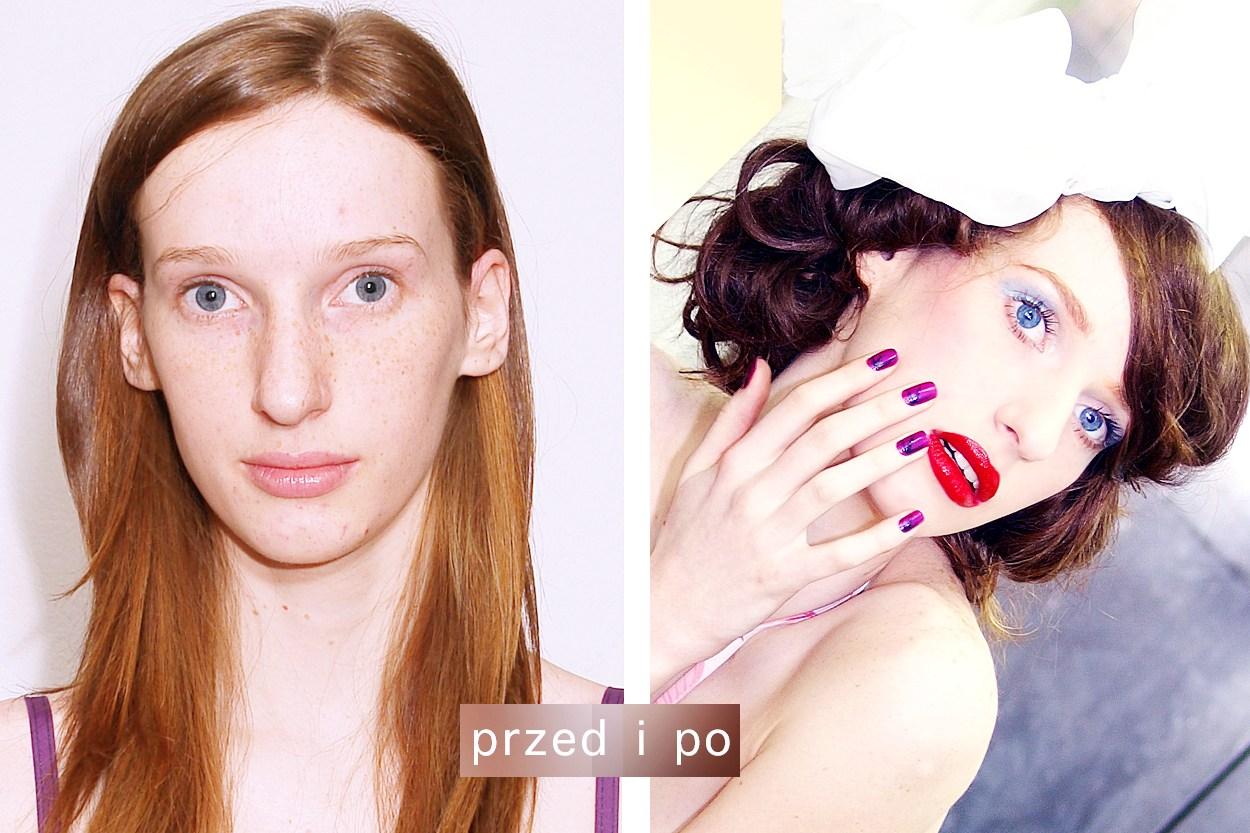 makijaż ślubny retro