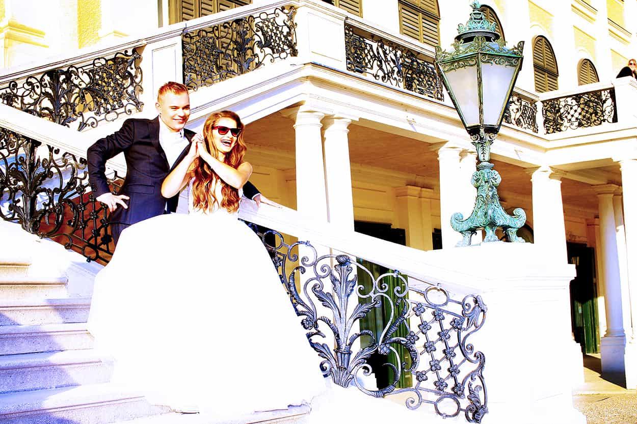 sesja ślubna w Wiedniu w Schloss Schönbrunn