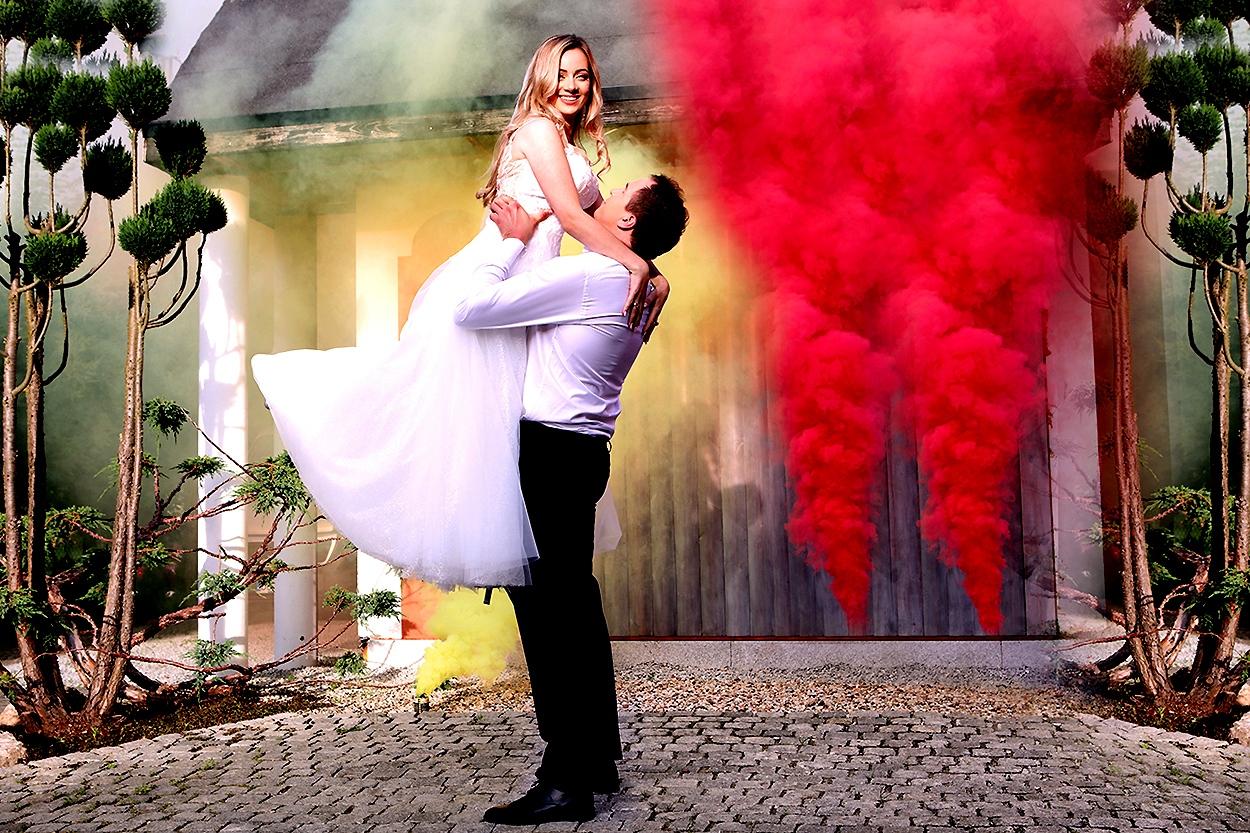 artystyczna sesja poślubna