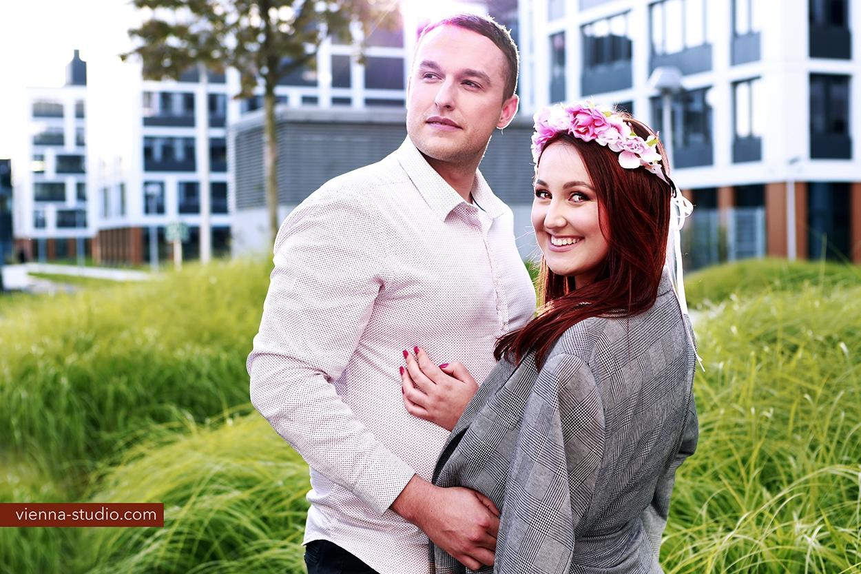 romantyczne zdjęcia pary Trzebnica